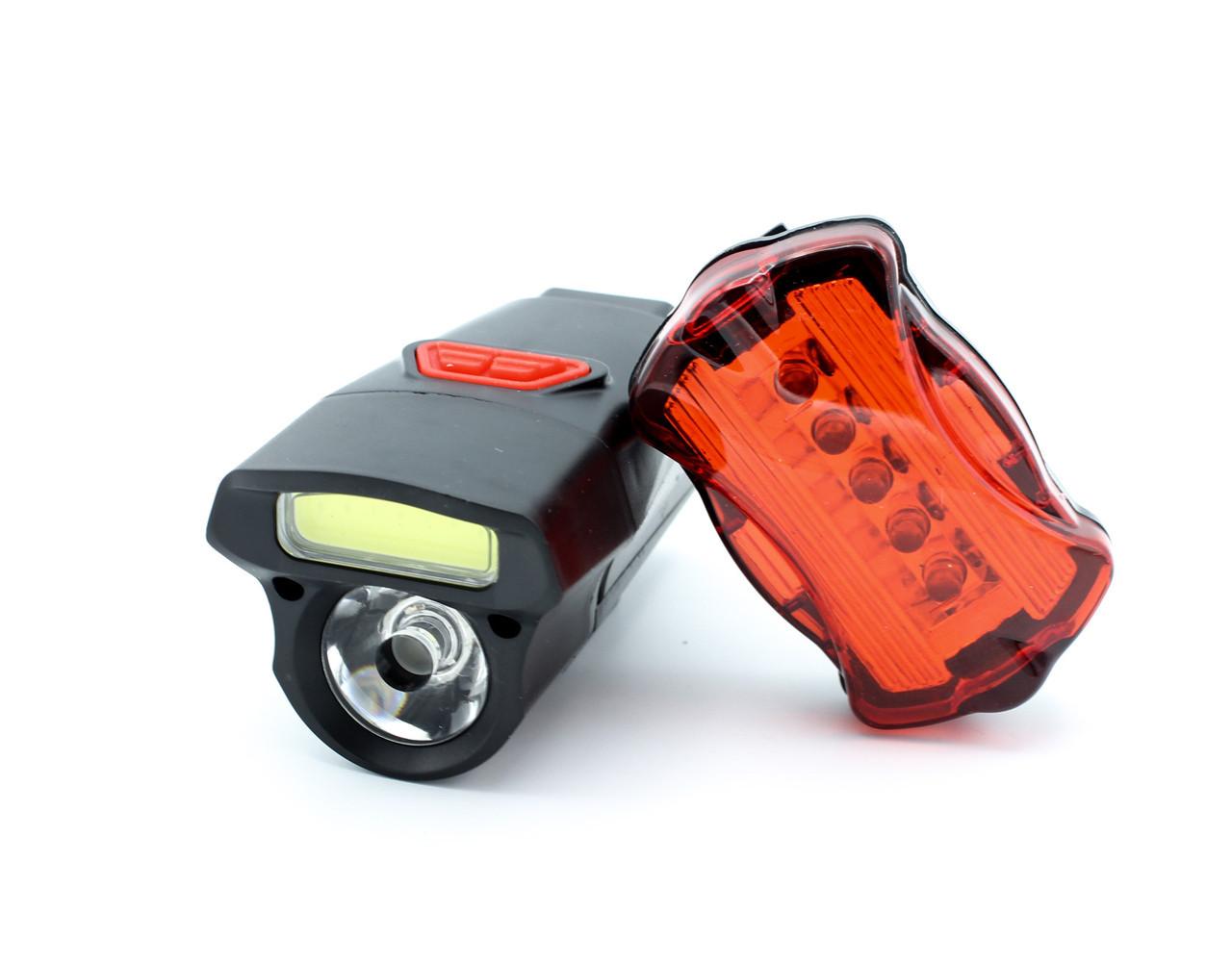 Велосипедная фара с Задним стопом Kiakuo WD482