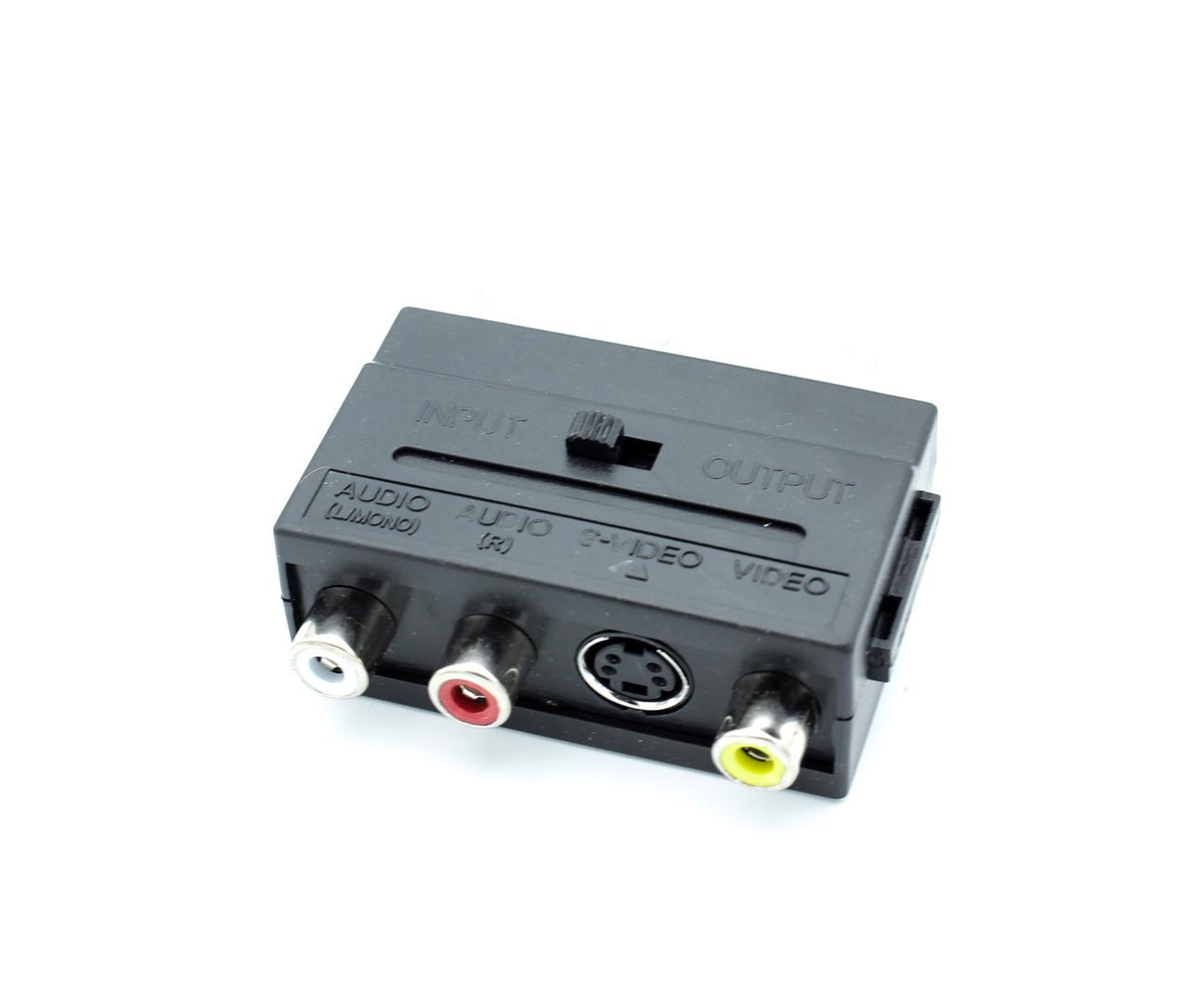 Адаптер SCART RCA S-Video (двусторонний) переходник рца с-видео композит