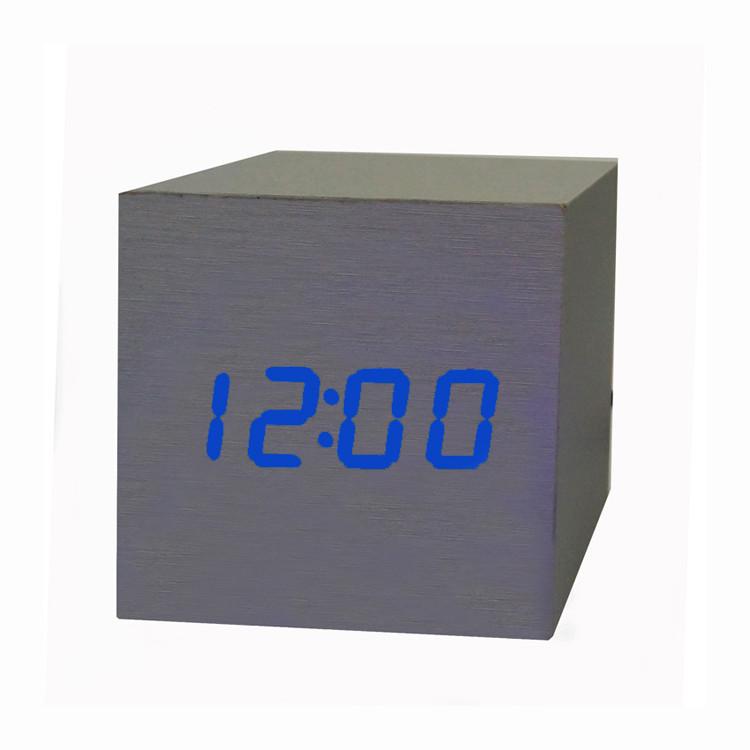 Часы-Будильник VST-869-2-Blue с температурой и подсветкой