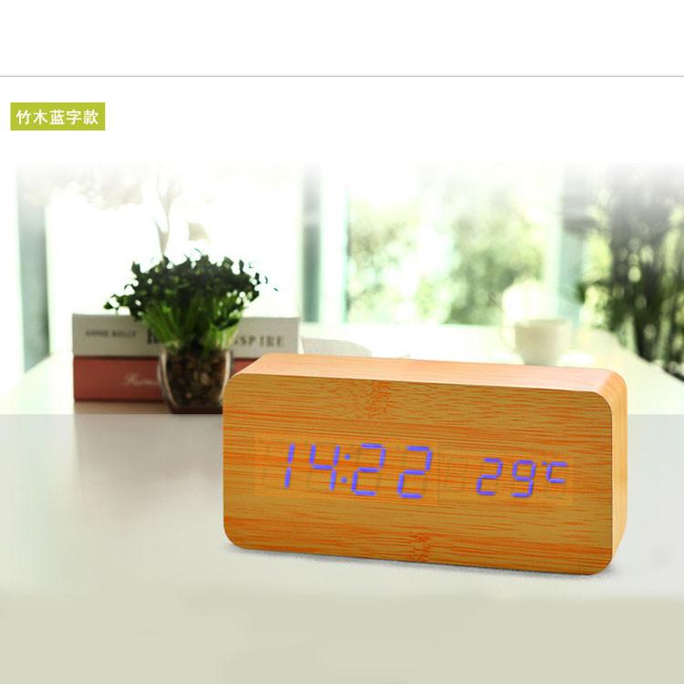 Часы-Будильник VST-862-3-Blue с температурой и подсветкой