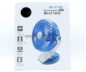 Вентилятор на прищепке от USB или 18650 аккумулятор ML-F168