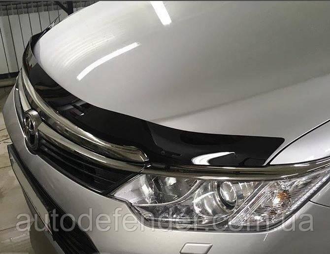 Дефлектор капота (Люкс!) мухобойка Toyota Camry V55 2014-2017 Europa SIM, STOCAM1412