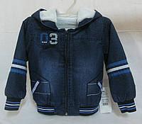 Курточка джинсовая на махровой подкладке 2-3 года