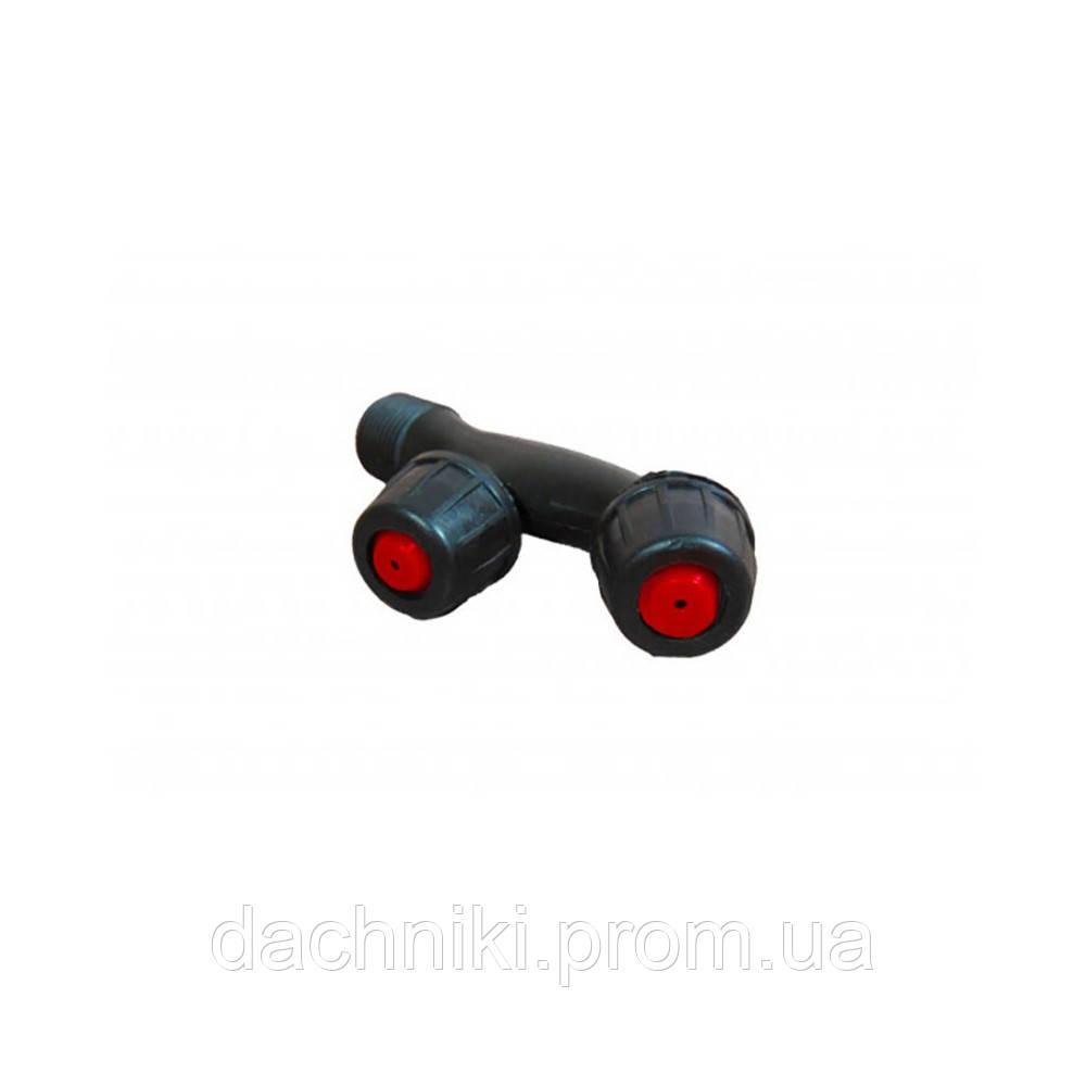 Насадка на опрыскиватель F-образная двойная с красным