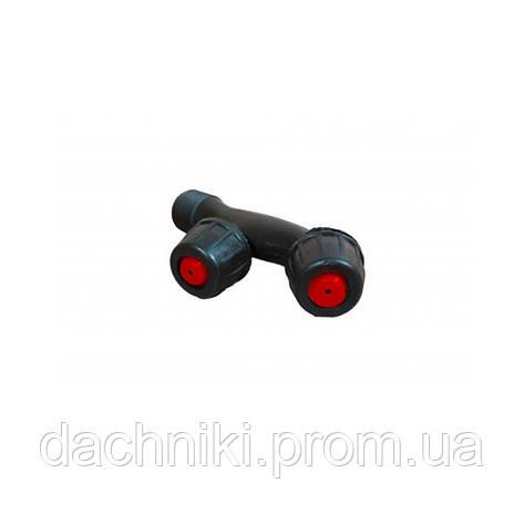 Насадка на опрыскиватель F-образная двойная с красным, фото 2