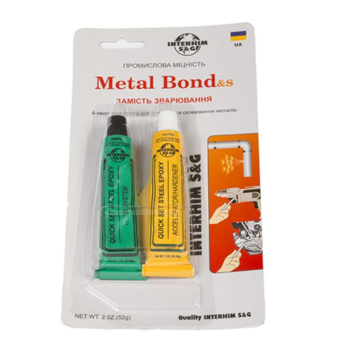 Эпоксидный клей Metal Bond двухкомпонентный  2*28г