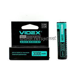 Аккумулятор Videx 18650 с защитой LI-ION 3000 mAh 3.7V