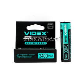 Аккумулятор Videx 18650 с защитой LI-ION 3400 mAh 3.7V