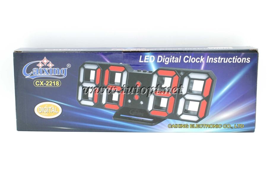 Электронные часы с будильником и термометром Caixing CX-2218