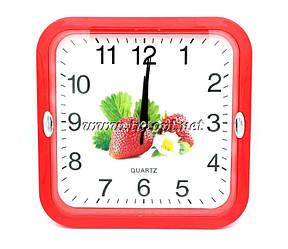 Настенные часы 227 21,5*21,5*4 Красный