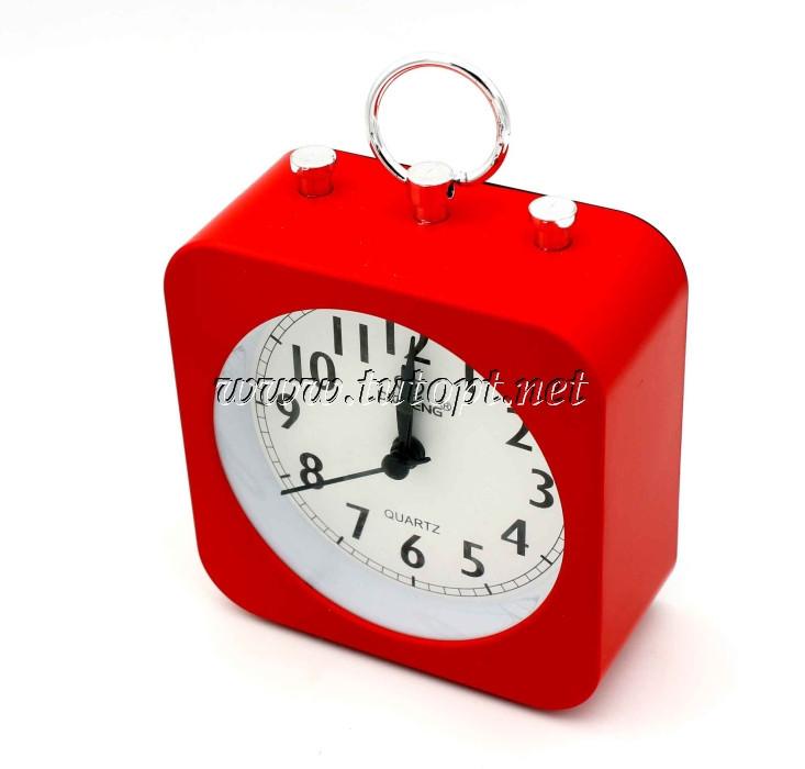 Часы-будильник OS-003 10*13.5*4.5 Красный