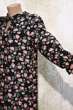 Модное летнее шифоновое платье в цветах с поясом.Модне літнє шифонове плаття в квітах з поясом., фото 3