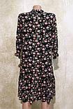 Модное летнее шифоновое платье в цветах с поясом.Модне літнє шифонове плаття в квітах з поясом., фото 4