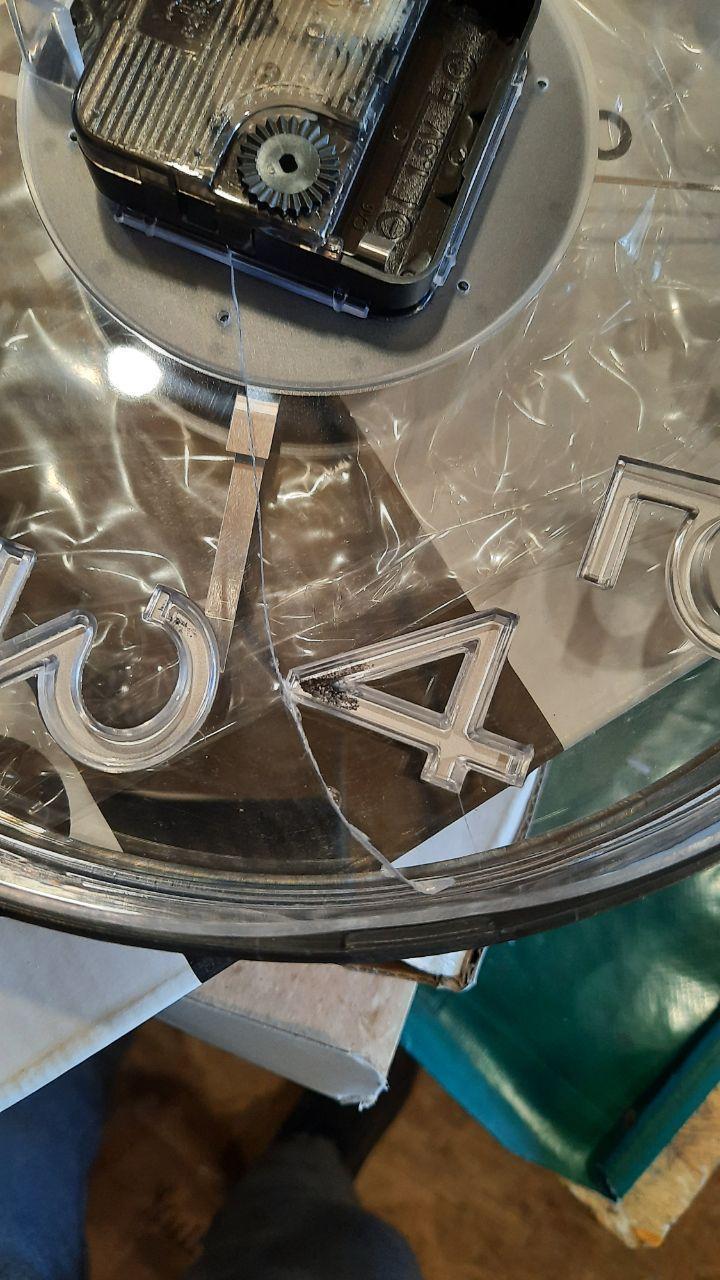 Настенные часы MS8812 25*25*4 ЧЕРНЫЙ (РАСПРОДАЖА - ТРЕЩИНА НА СТЕКЛЕ)