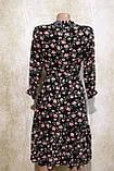 Модное летнее шифоновое платье в цветах с поясом.Модне літнє шифонове плаття в квітах з поясом., фото 9