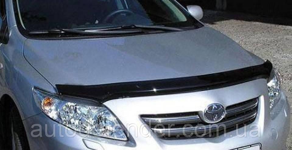 Дефлектор капота (Люкс!) мухобойка Toyota Corolla 2007-2012, SIM, STOCOR0712
