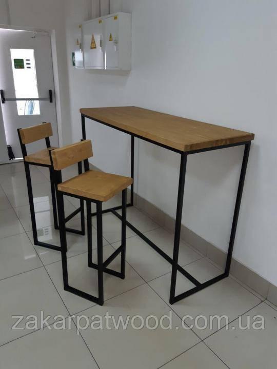 Барный комплект (стол +2стула)  (L_384)