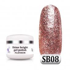 Гель паста Shine Bright platinum SB 08, 5 г
