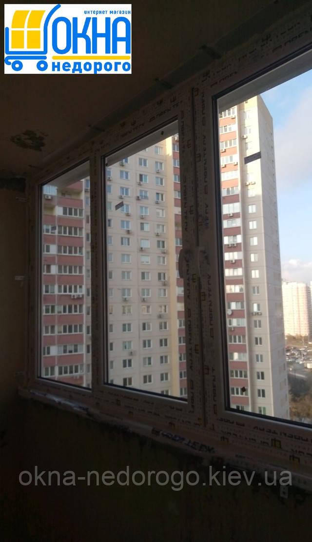 Остекление лоджии в Киеве на пр. Петра Григоренко 14