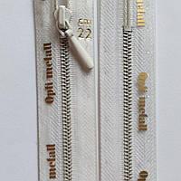 Молния крашенный металл неразъемная 4 OPTI 15, 18, 20, 22, 40, 55 см, разные цвета, Травяной 220, Белый