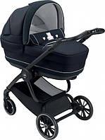 Универсальная коляска 2 в 1 Cam Techno Joy Romantic на черной раме Синяя (805T/V90/976/511K)