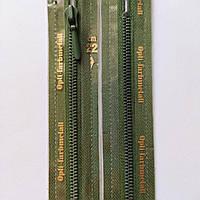 Молния крашенный металл неразъемная 4 OPTI 15, 18, 20, 22, 40, 55 см, разные цвета, Травяной