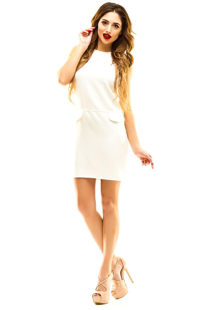Платье 337 белое 42