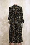 Стильное летнее платье-рубашка в растительных узорах и цветах. Літнє плаття-рубашка в рослинних узорах та квіт, фото 4