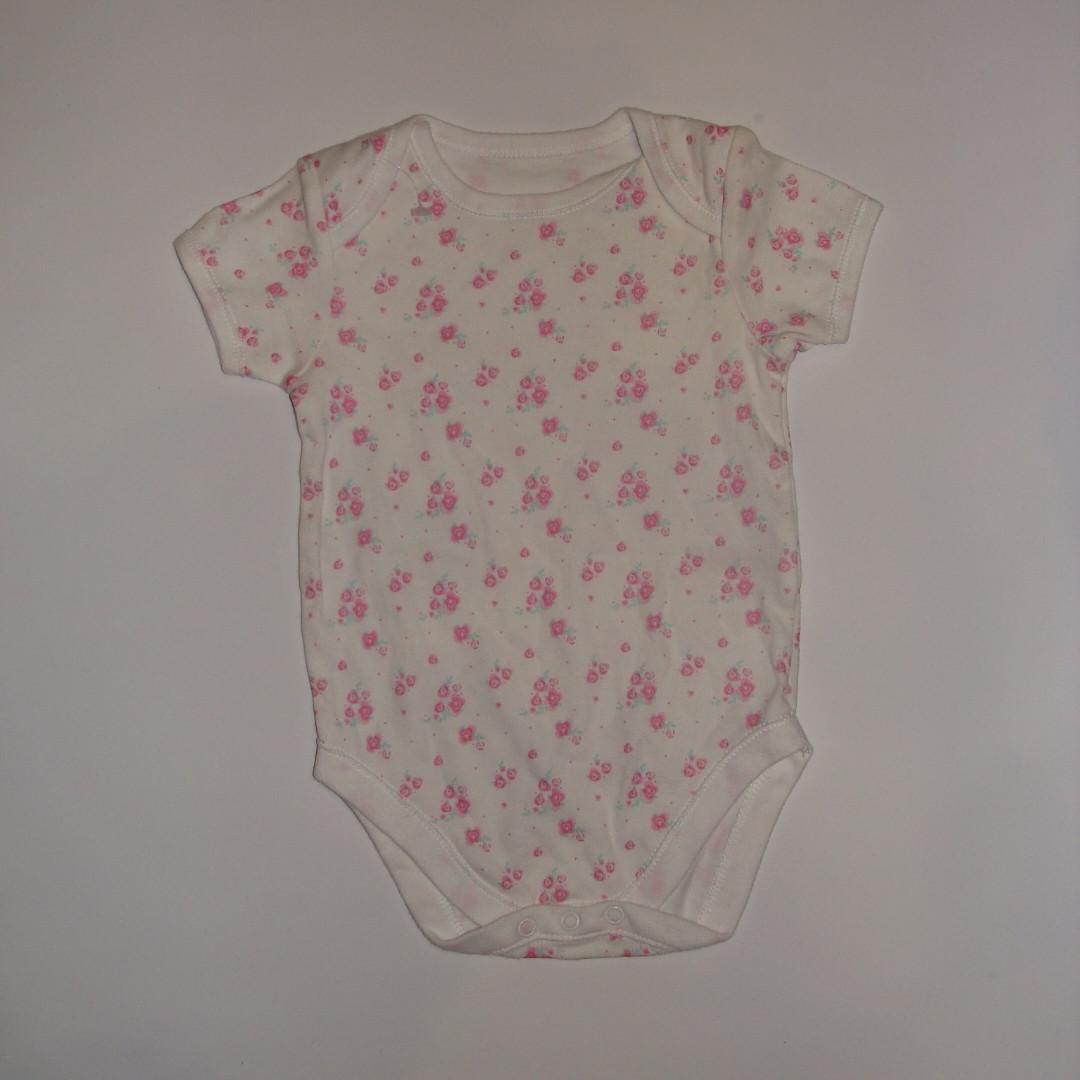 Боди для девочки короткий рукав цветочный принт Early Days р.12-18мес (86см)