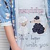"""Комплект девичий сорочка и халатик с барашками """"Filini"""", фото 10"""