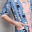 """Комплект девичий сорочка и халатик с барашками """"Filini"""", фото 5"""