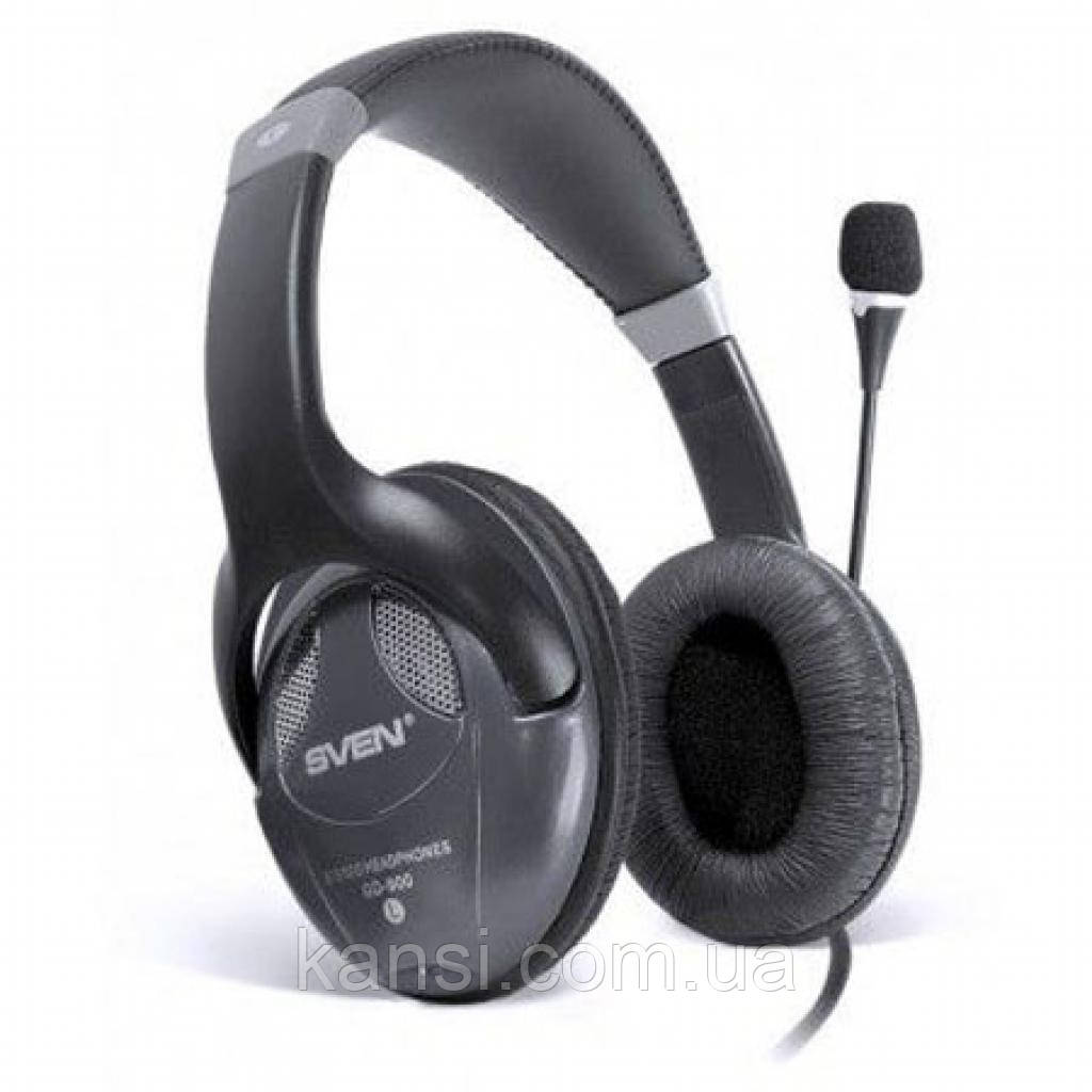 Навушники SVEN AP-670MV black, дротові навушники гарнітура, навушники з оголовьем