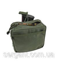 Подсумок невысыпайка для магазина и патронов россыпью НС-змL Ranger green