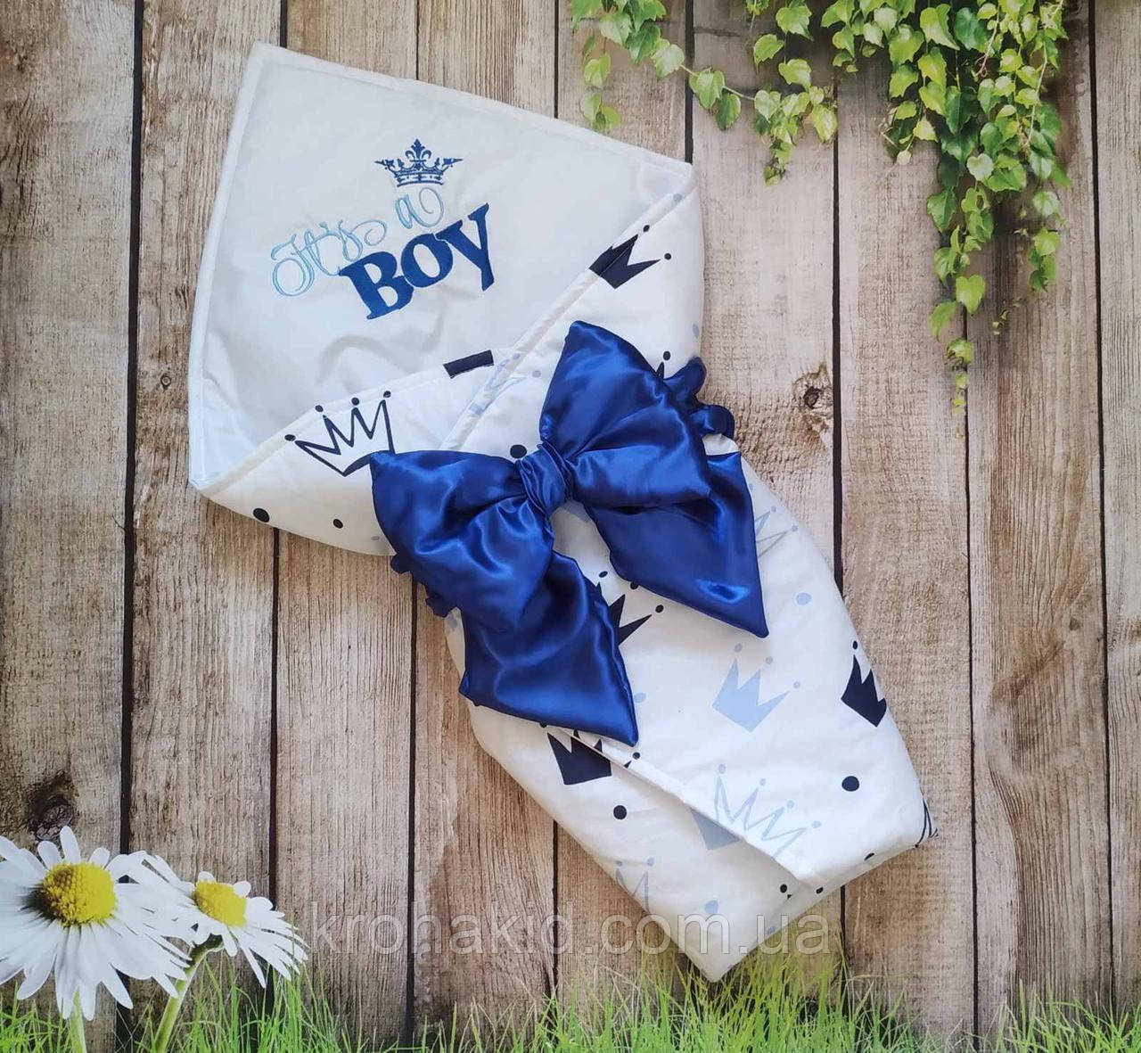 Детский летний конверт на выписку, конверт-одеяло (ЛЕТО), конверт-плед для новорожденного