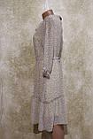 Легкое воздушное шифоновое бежевое платье с поясом. Легке літнєплаття бежевого кольору з поясом., фото 3