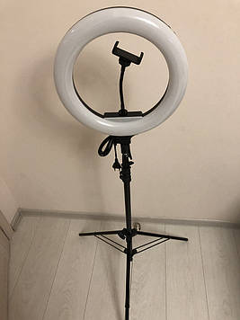 Профессиональная кольцевая лампа AL-33  36 Вт ,  держатель для телефона , пульт , штатив 2 м