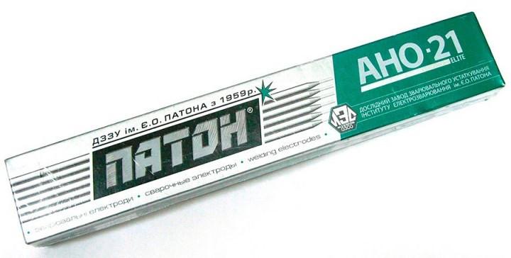 """Електроди АНО-21 д.4 мм """"ПАТОН"""" 2,5 кг  для зварювання вуглецевих сталей"""