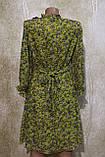 Легкое воздушное желтое платье в цветах. Легке літнє плаття жовте у квітках., фото 4