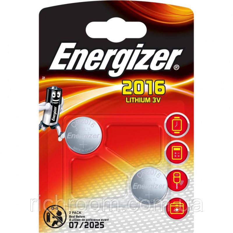 F1-01020, Литиевые батарейки Energizer CR 2016 Lithium, 3V, 2 шт