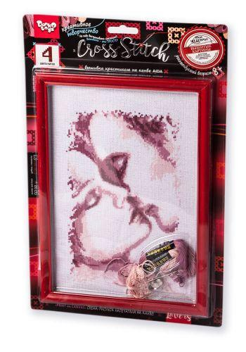 "Вышивка крестиком на канве ""Cross Stitch: Влюблённая пара"" VKB-01-12"
