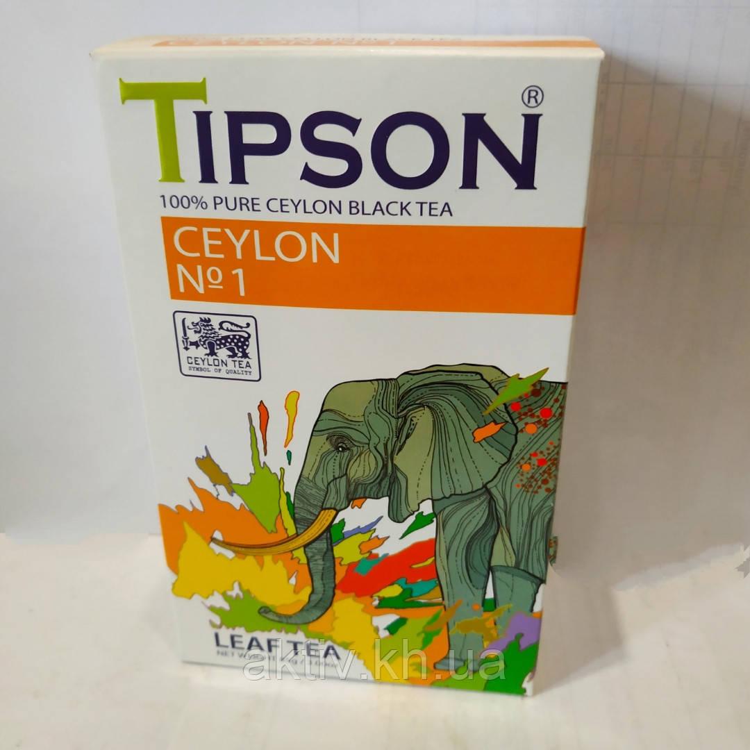 """Чай чёрный ,,Tipson""""  Ceylon № 1 85грамм"""