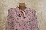 Легкое воздушное шифоновое платье в цветах с поясом. Легке літнє плаття шифонове з поясом., фото 2