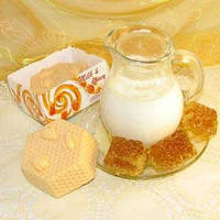 """Подарочное мыло ручной работы """"Молоко и мёд"""", арт. MS-019"""