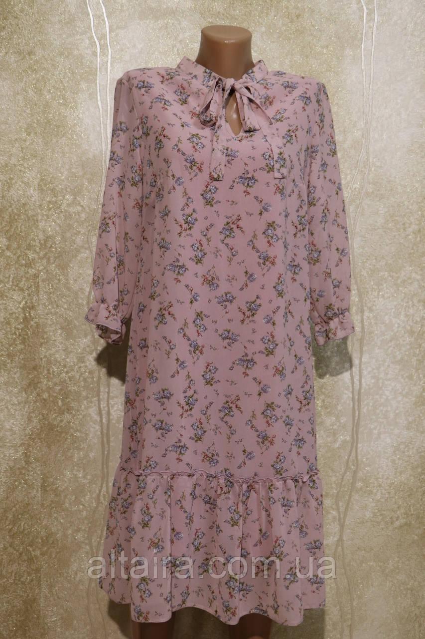 Легке повітряне шифонова сукня в кольорах з поясом. Легке літнє шифонове плаття з поясом.