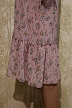 Легкое воздушное шифоновое платье в цветах с поясом. Легке літнє плаття шифонове з поясом., фото 3
