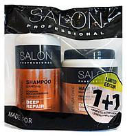 Шампунь Salon Professional Deep Repair Глубокое восстановление 1 л + Маска 1 л