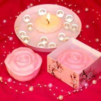 """Подарочное мыло ручной работы """"Чайная роза"""", арт. MS-024"""