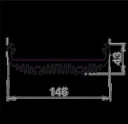 Радіаторний профіль 146х43 Без покриття