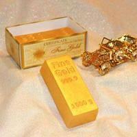 """Подарочное мыло ручной работы """"Слиток золота"""", арт. MS-027"""
