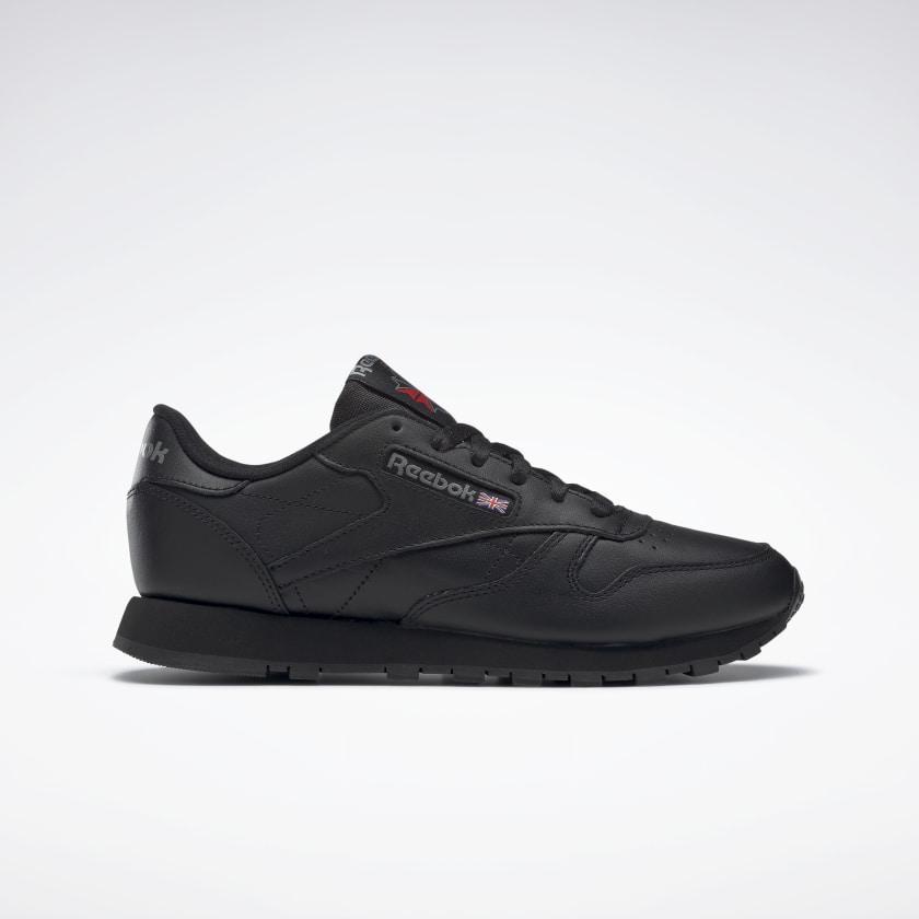 Кроссовки женские оригинальные Reebok Classic Leather кожаные черные